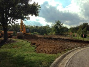 Excavation of the new drive entrance