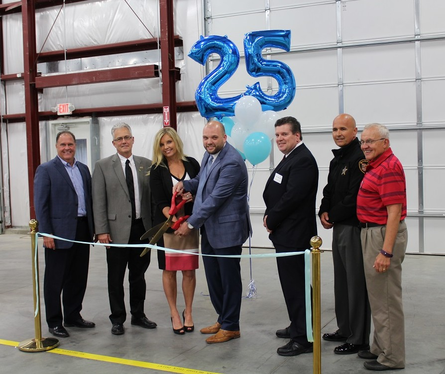 Ribbon cutting for expansion and 25th anniversary